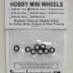 11mm Rubber Tires on Plastic Hubs (8)