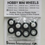 18mm Rubber Tires on Plastic Hubs (8)