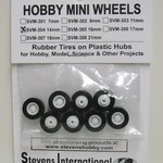 14mm Rubber Tires on Plastic Hubs (8)
