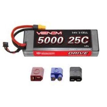 VENOM 1558 LiPo 2S 7.4V 5000mAh 25C Hardcase Uni Plug System