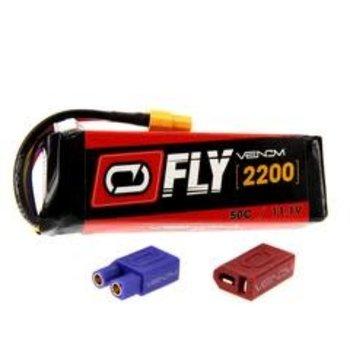 25033 LiPO 3S 11.1V 2200mAh 50C Universal Plug 2.0 Fly
