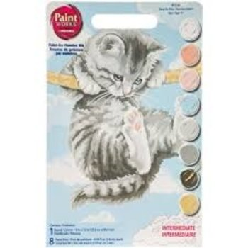 "Dimensions Hang on Kitty Paint by Number (14""x11"")"