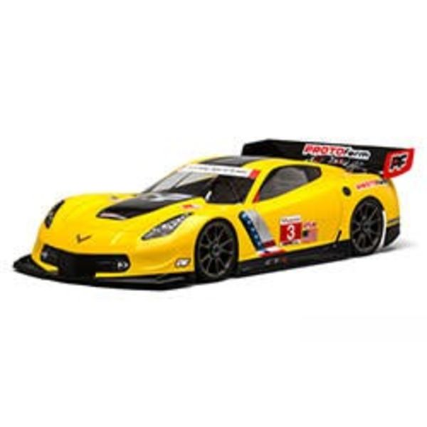 PRO 1/8 Chevrolet Corvette C7.R Clear Body:GT,Long WB (picture may not reflect actual product)
