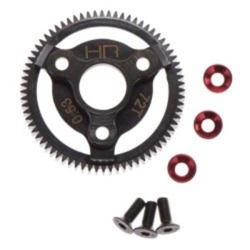 HOT RACING STE872 TG Red Steel Spur Gear 48P 72T