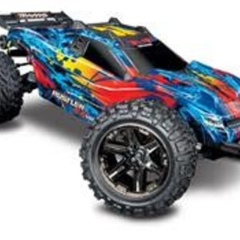 Traxxas Rustler 4X4 VXL: 1/10 Scale Stadium Truck with TQi Traxxas Link Enabled 2.4GHz Radio System & Traxxas Stability Management (TSM)