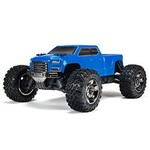 "arrma 1/10 Bigrock Crew Cab 4x4 3S BLX Blue RTR  Step up from brushed bashing to the 50+ mph performance of the 1/10 scale Big Rock Crew Cab 4X4. Its body supplies realistic ""street"" style, and inside, ARRMA has given this monster the toughness to tak"