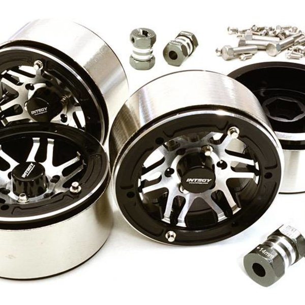 Integy 1.9 Size Machined High Mass Wheel (4) w/14mm Offset Hubs for 1/10 Scale Crawler