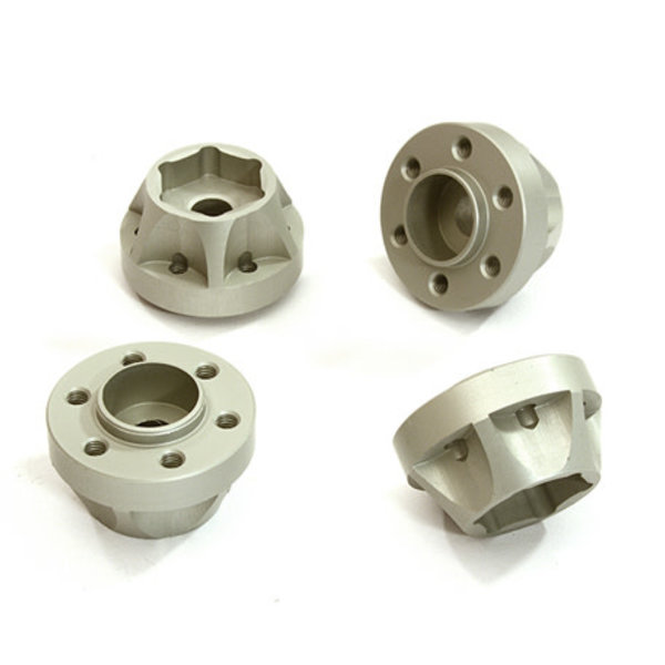 Integy Alloy 12mm Hex-to-6 Bolt Wheel Hub 12mm Thick +6 Offset for Traxxas TRX-4 C28251