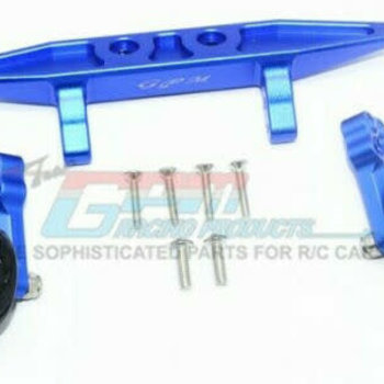 GPM GPM RACING TRAXXAS RUSTLER 4X4 BLUE ALUMINUM ADJUSTABLE WHEELIE BAR RUS4040R-B