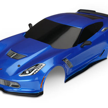 Traxxas blue vette body