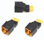 APEX NO WIRE XT60 SERIES ADAPTER CONNECTOR PLUG - 3 PACK