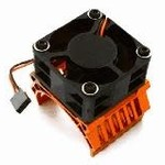 Integy 42mm Motor Heatsink+40x40mm Cooling Fan 16k rpm for 1/10 Summit & E-Revo C28603ORANGE