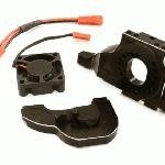 Integy Alloy Motor Mount w/ Cooling Fan for TRX-4 Scale & Trail Crawler C28714BLACK New Item
