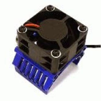 Integy 42mm Motor Heatsink+40x40mm Cooling Fan 16k rpm for 1/10 Summit & E-Revo C28603BLUE New Item