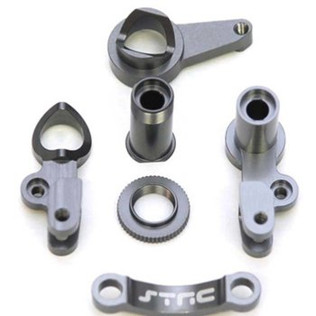 strc HD ALUM STEERING BELLCRANK SET FOR SLASH 4X4 (GUN METAL)