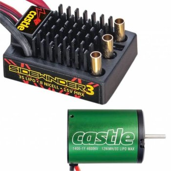 Castle Creations 1501 1/10 SV3 Sidewinder Waterproof 12V ESC/4600 Combo