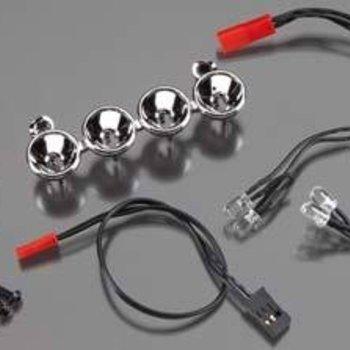 Traxxas 6784 LED Lightbar Chrome 4 Clear Lights