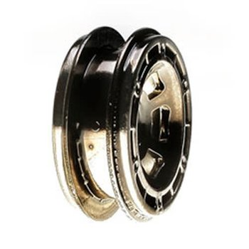 LOSI Wheels, Black Chrome: Mc4X4
