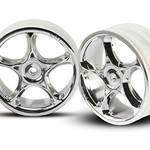Traxxas 2473 Tracer Front Wheels Chrome Bandit (2)