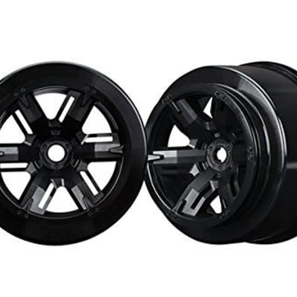 Traxxas Wheels, Left & Right, Black; Traxxas X-Maxx