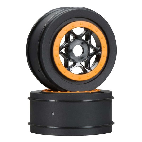 HPI Wheel Black/Orange 42x83mm (2)
