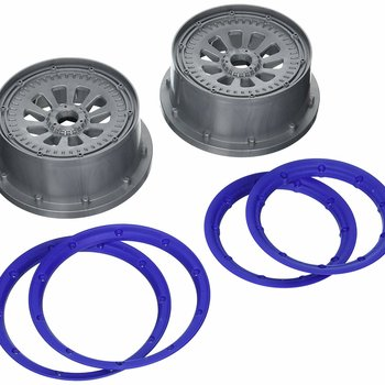 LOSI Wheel and Beadlock Set (2): 5IVE-T