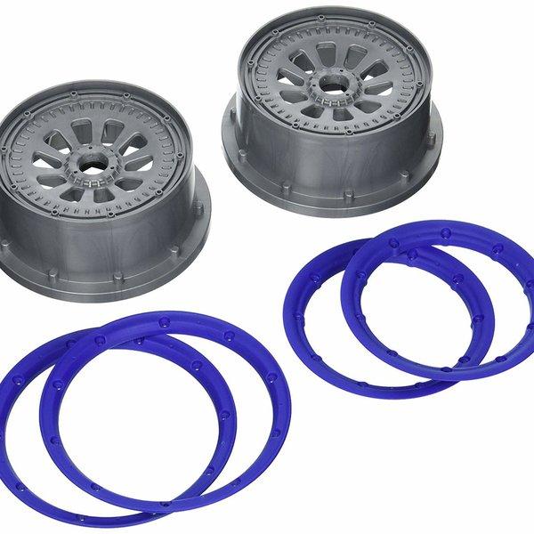 LOSI Wheel and Beadlock Set (2): 5IVE-T
