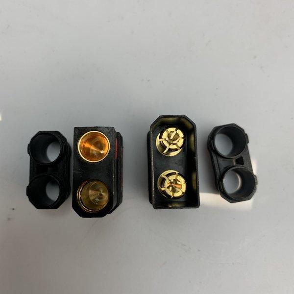 QS8 Antispark male and female plug set Black
