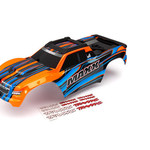 Traxxas 8911T - Body, Maxx®, orange (painted)/ decal sheet