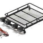 Integy C24965BLACK Realistic 1/10 Metal Luggage Tray w/LED Lgt