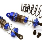 Integy Machined 90mm Rear Big Bore Shocks for Traxxas 1/10 Stampede, Rustler & Slash C28475BLUE
