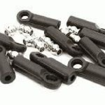 M4 Size Straight 27mm Length Ball Ends Type Tie Rod Ends, w/ 3mm Ball Links