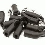 M4 Size Angled 25mm Length Ball Ends Type Tie Rod Ends, w/ 3mm Ball Links
