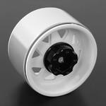 "RC4 Z-W0242 5-Lug Deep Dish Wagon 1.9"" Beadlock Wheels Wht"