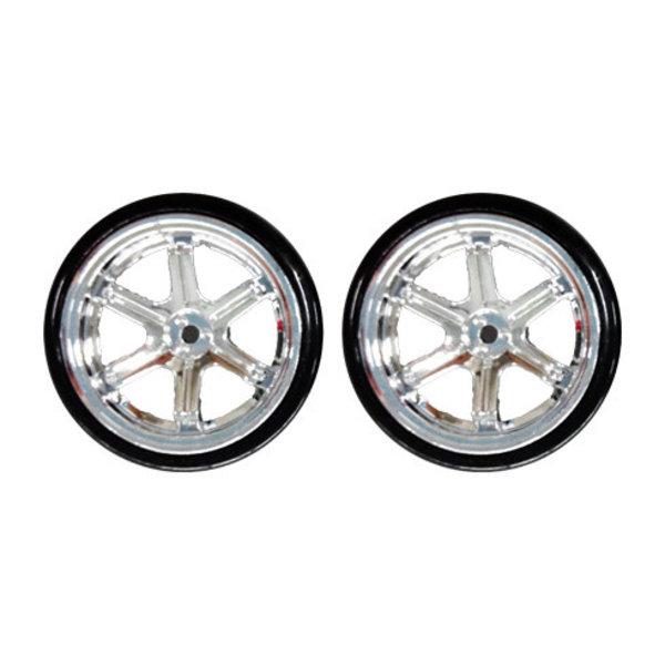redcat 6 spoke chrome drift wheels