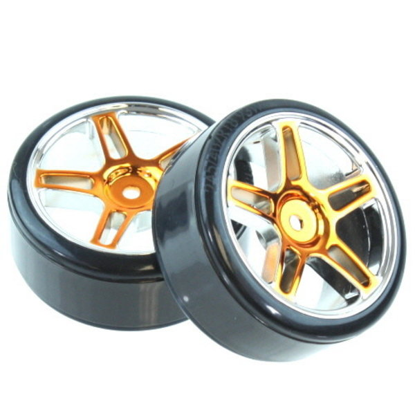 redcat Anodized Yellow Drift Wheels and Tires