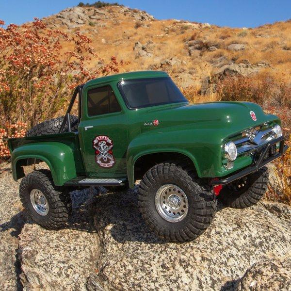 1/10 SCX10 II 1955 Ford F-100 Truck 4WD RTR, Green (AXI03001T2)