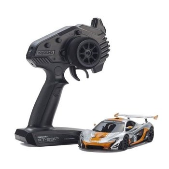 KYOSHO MINI-Z RWD McLaren P1™ GTR Silver/Orange Readyset RTR 32324SO