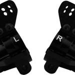 HOT RACING AON22M01 Aluminum Rear Axle Carriers HD Bearings Black