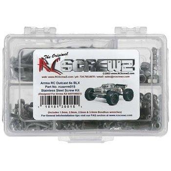 RC Screwz Stainless Steel Screw Kit ARA Outcast 6S BLX