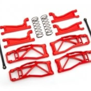 Traxxas Suspension kit, WideMaxx™, Red (includes front & rear suspension arms, front toe links, rear shock springs)
