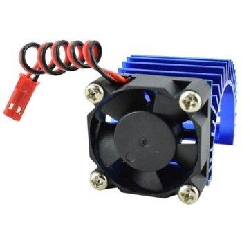 APEX Apex RC Products 540 / 550 Blue Aluminum Heat Sink W/ 30mm Fan #8041-BL