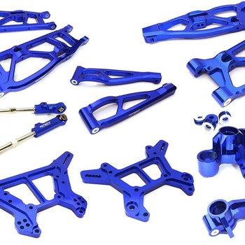 Integy Billet Machined Alloy Suspension Kit for Arrma 1/8 Kraton 6S BLX C28729BLUE