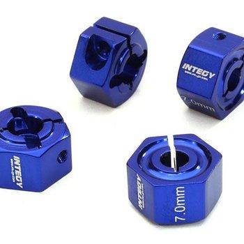 Integy 12mm Hex Wheel (4) Hub 7mm Thick for 1/10 Traxxas, Axial, Tamiya, TC & Drift