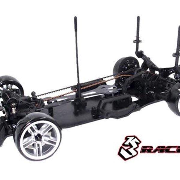 Sakura 3RACING Sakura D4 1/10 Drift Car(AWD- Sport Black edition) - Pre-assembled KIT-D4AAWDS/BK