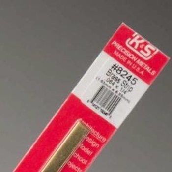 """K&S (1).064X1/4X12""""BRASS STRIP"""
