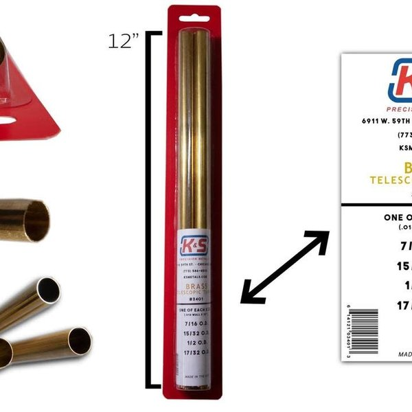 K&S Brass Telescoping Tubing 7/16-17/32