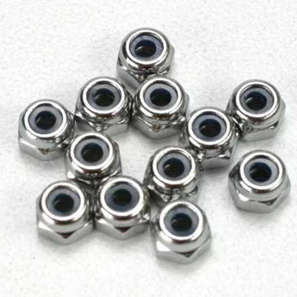 Traxxas 5158 2.5 MM NYLON LOCKING NUTS (12) REVO