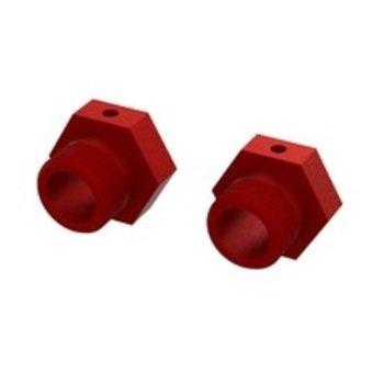 ARA Aluminum Wheel Hex 24mm (Red) (2)