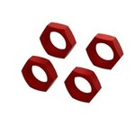arrma Aluminum Wheel Nut 24mm (Red) (4)